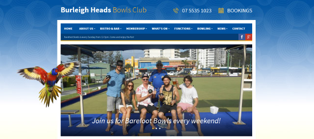 Burleigh Heads Bowls Club Screenshot